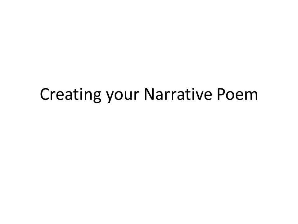 creating your narrative poem. sentence 1- identify the ritual