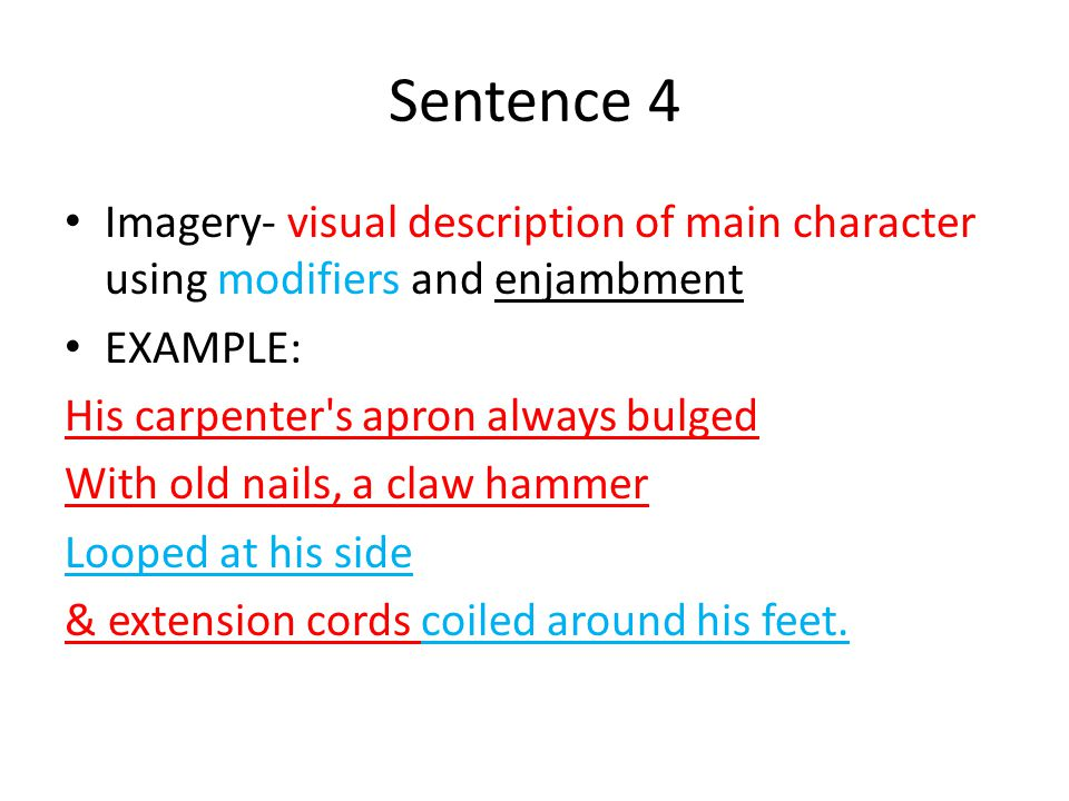 Creating Your Narrative Poem Sentence 1 Identify The Ritual