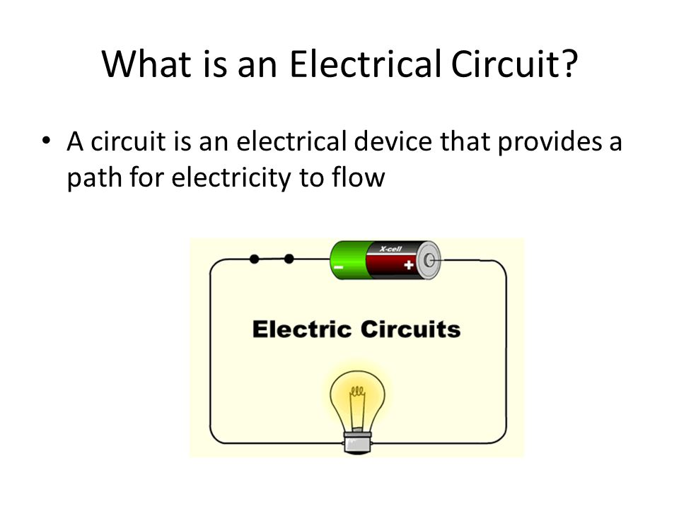 What is an Electrical Circuit.