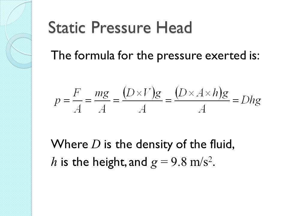 Measuring Pressure: Student Success Criteria I can conduct an