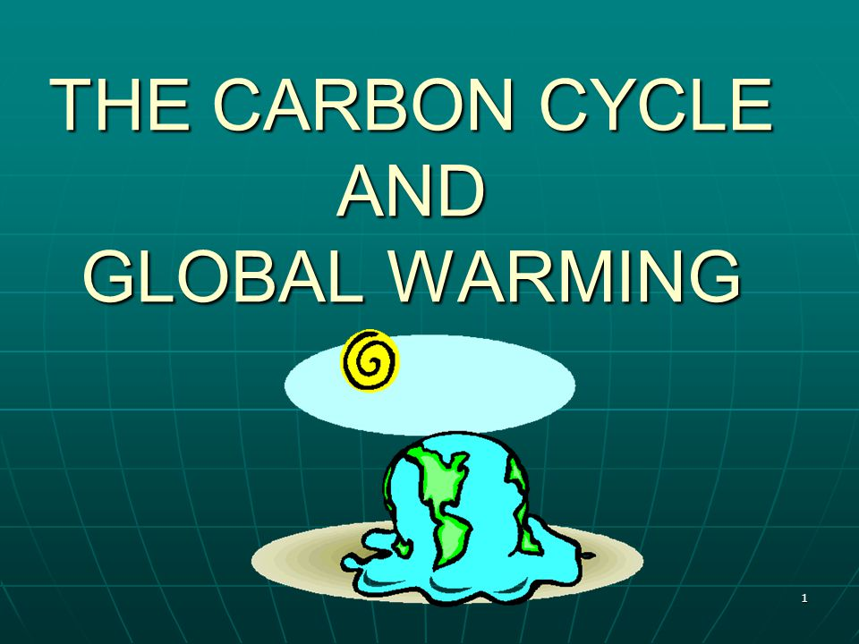 1 THE CARBON CYCLE AND GLOBAL WARMING