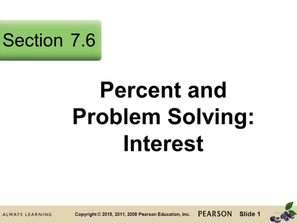 Slide 1 Copyright © 2015, 2011, 2008 Pearson Education, Inc.