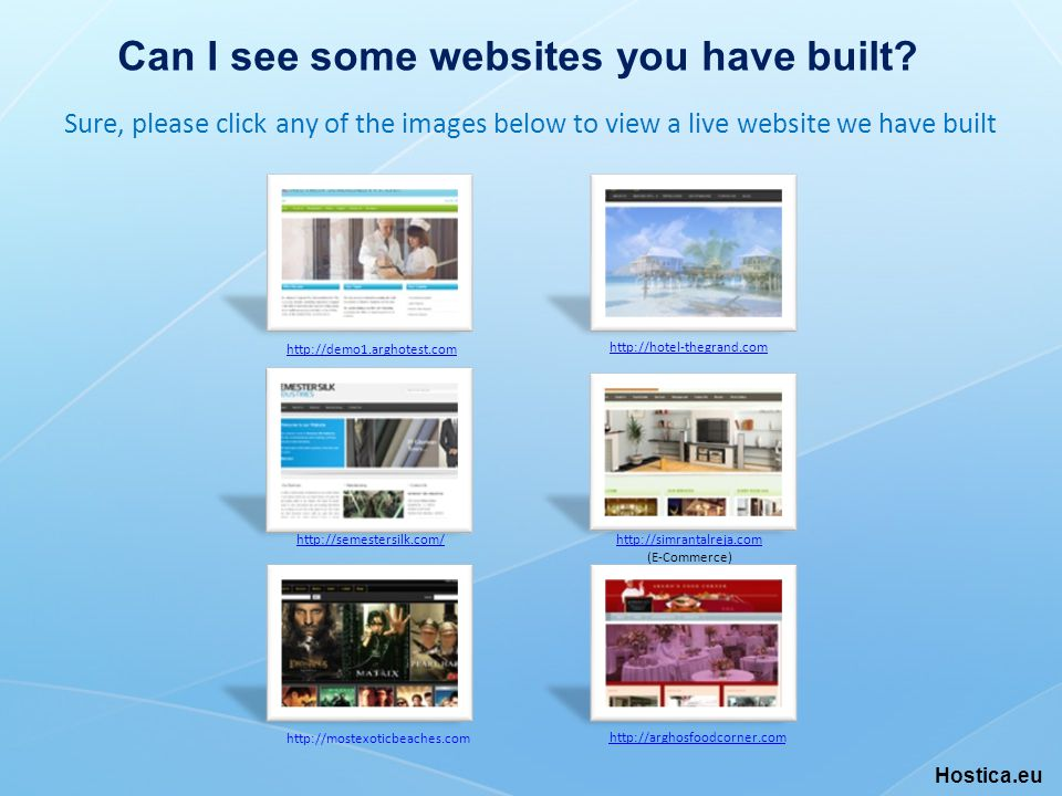 Can I see some websites you have built.