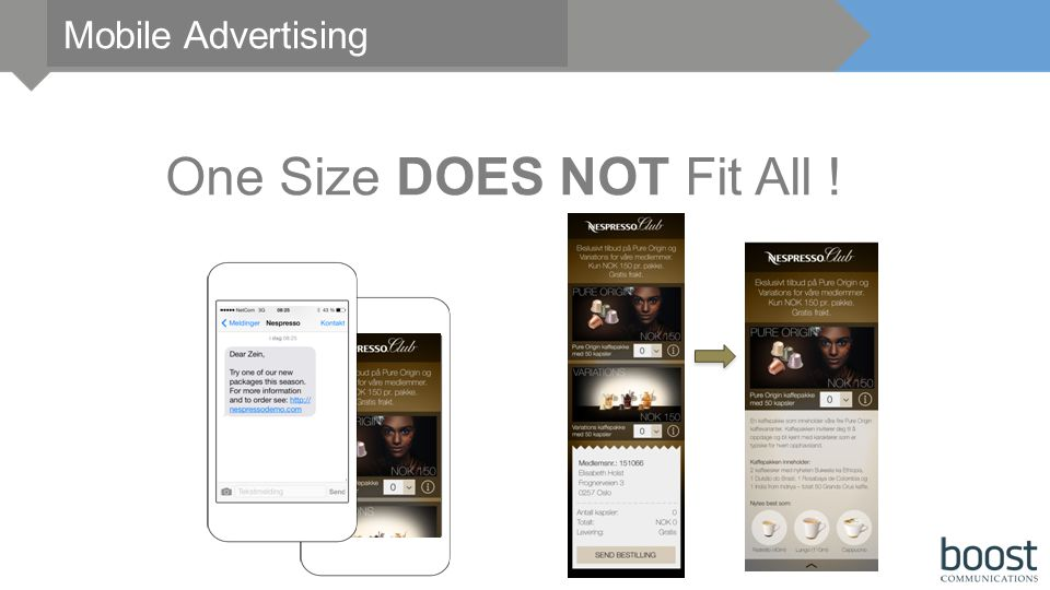 Mobile Advertising One Size DOES NOT Fit All !
