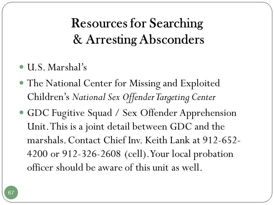 National sex offender targeting center