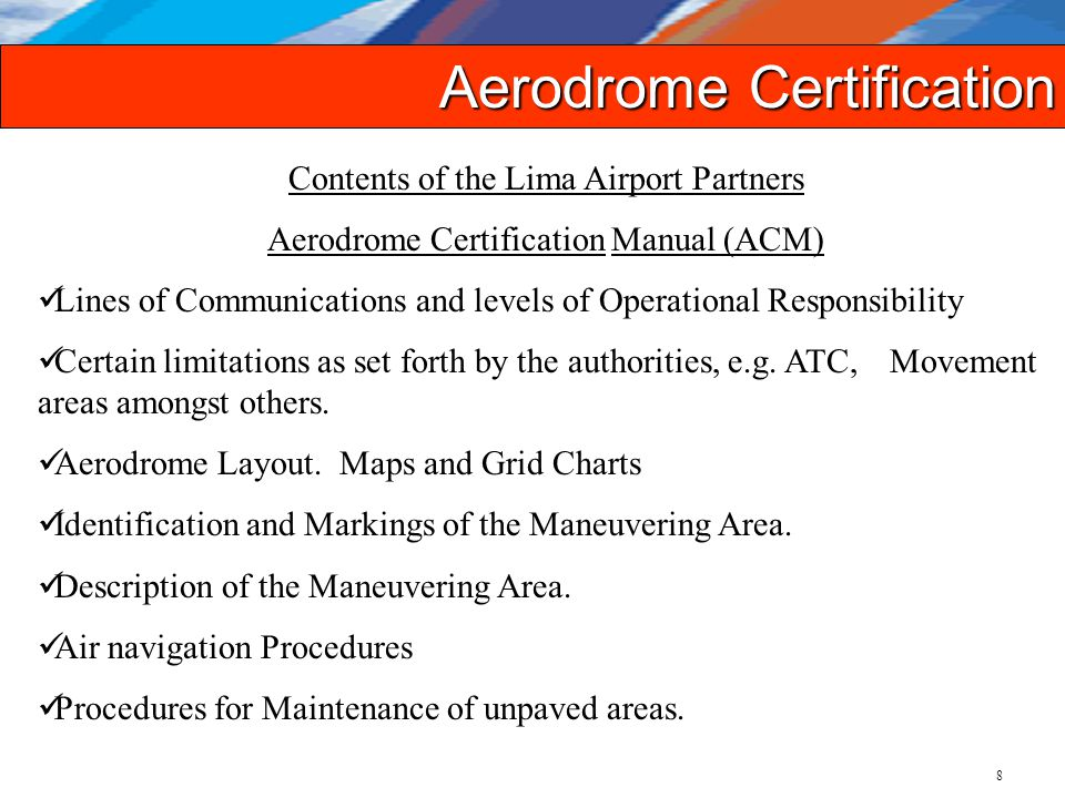 aerodrome safety certification as seen by a private airport operator rh slideplayer com