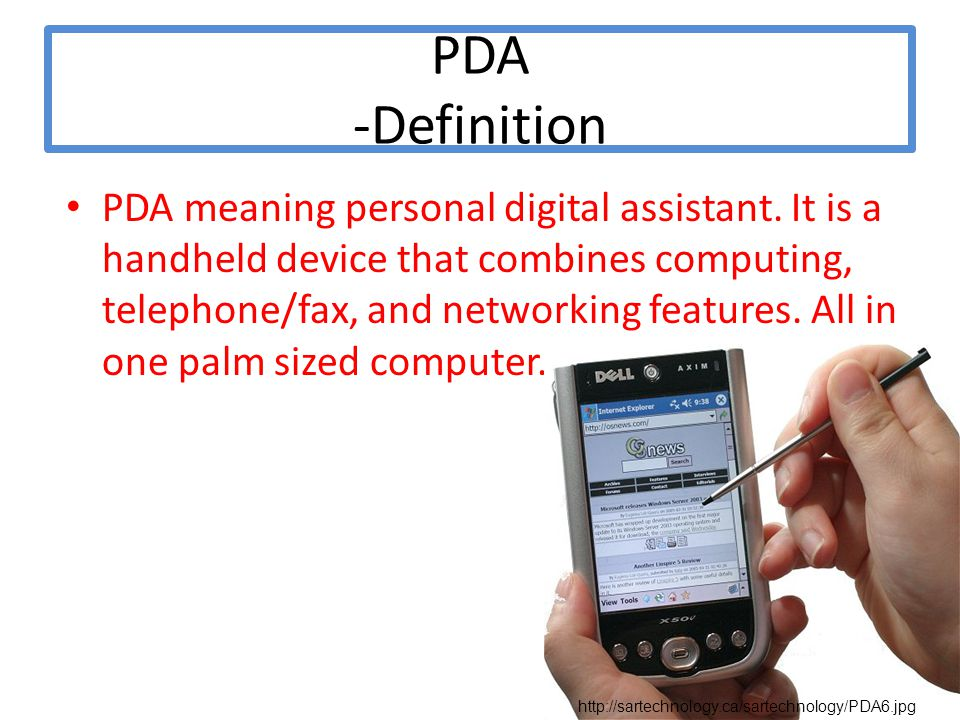 What is meaning of pda