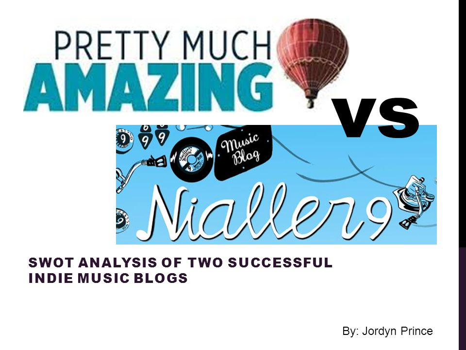 SWOT ANALYSIS OF TWO SUCCESSFUL INDIE MUSIC BLOGS vs By
