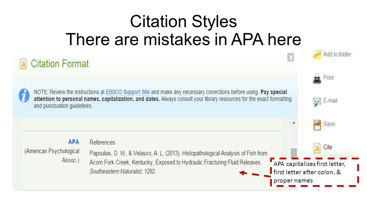 Scientific Journals Retrieving and Creating APA Citations.   ppt