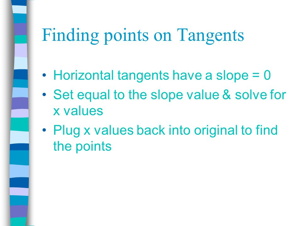 Equations of Tangent Lines April 21 st & 22nd. Tangents to Curves ...