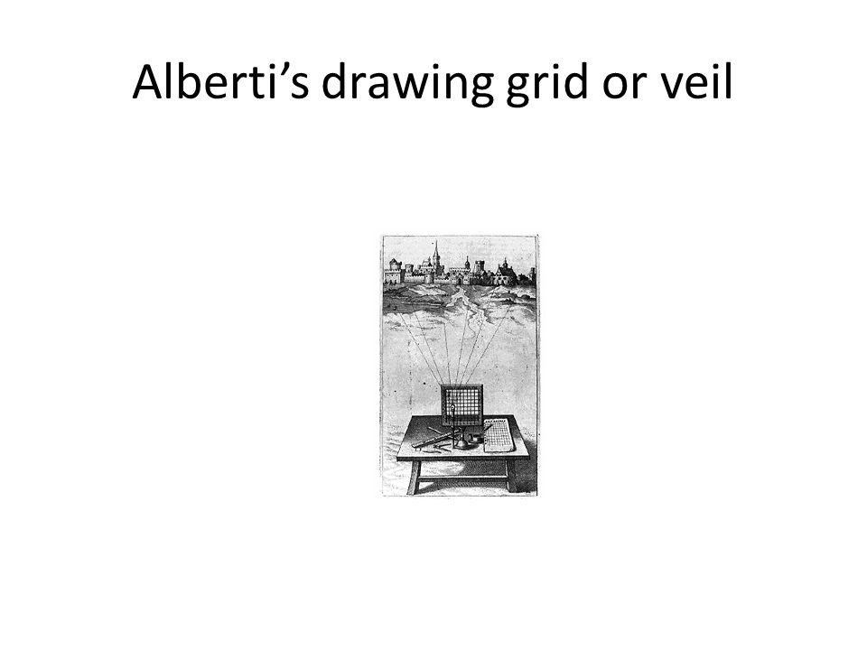 Alberti's drawing grid or veil
