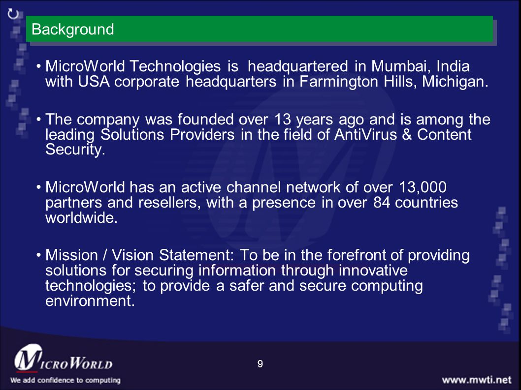 MICROWORLD TECHNOLOGIES NETWORK DRIVER