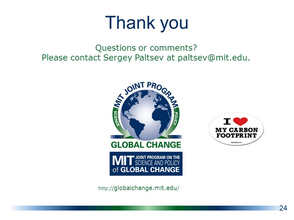 Thank you   globalchange.mit.edu / Questions or comments.