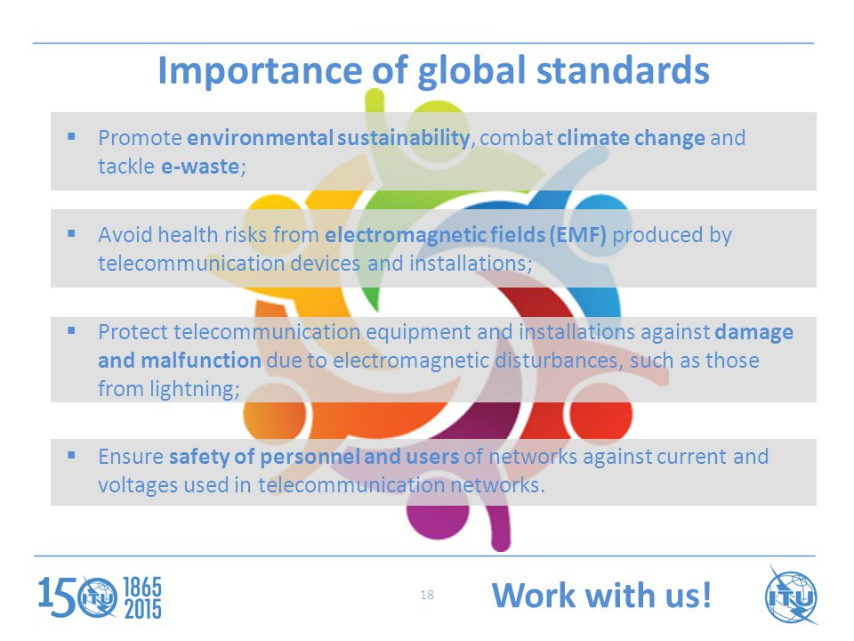 Importance of global standards Work with us.