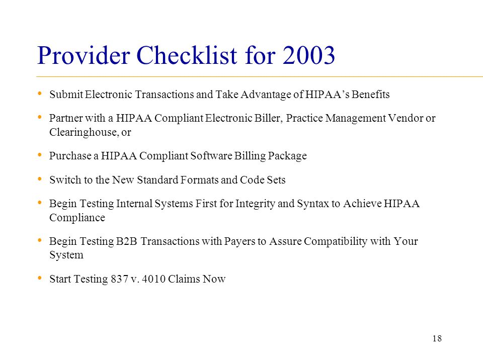 is your practice ready for hipaa transactions code sets and testing rh slideplayer com