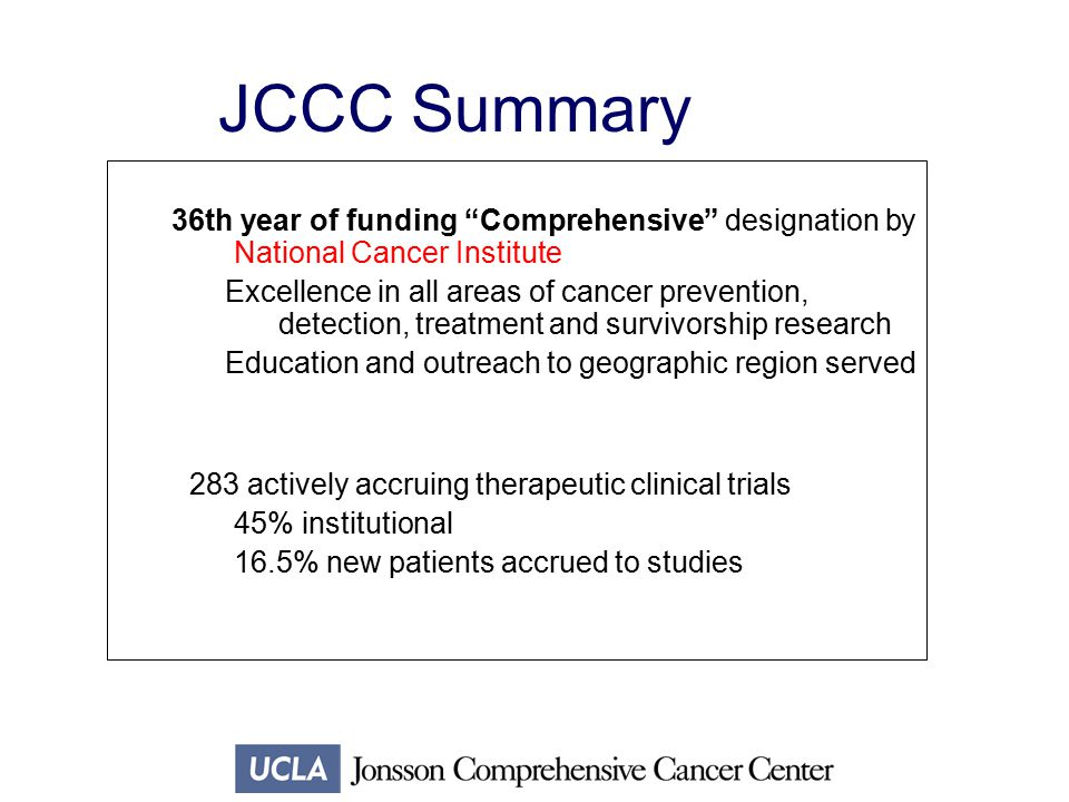 Research Initiatives at UCLA's Jonsson Comprehensive Cancer