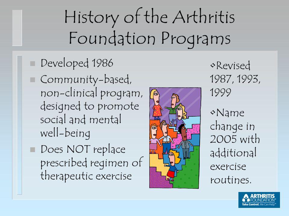 arthritis foundation exercise program artroza pe picioarele tratamentului