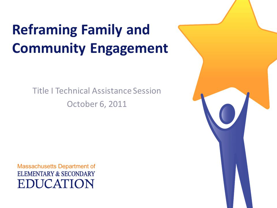 Reframing Family and Community Engagement Title I Technical Assistance Session October 6, 2011