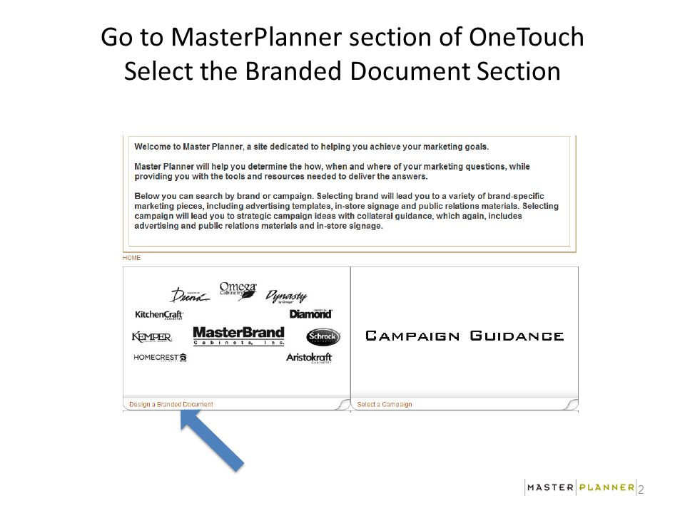 Master Planner Overview Start An Campaign Go To Masterplanner
