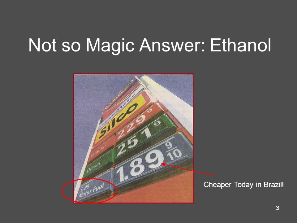 3 Not so Magic Answer: Ethanol Cheaper Today in Brazil!