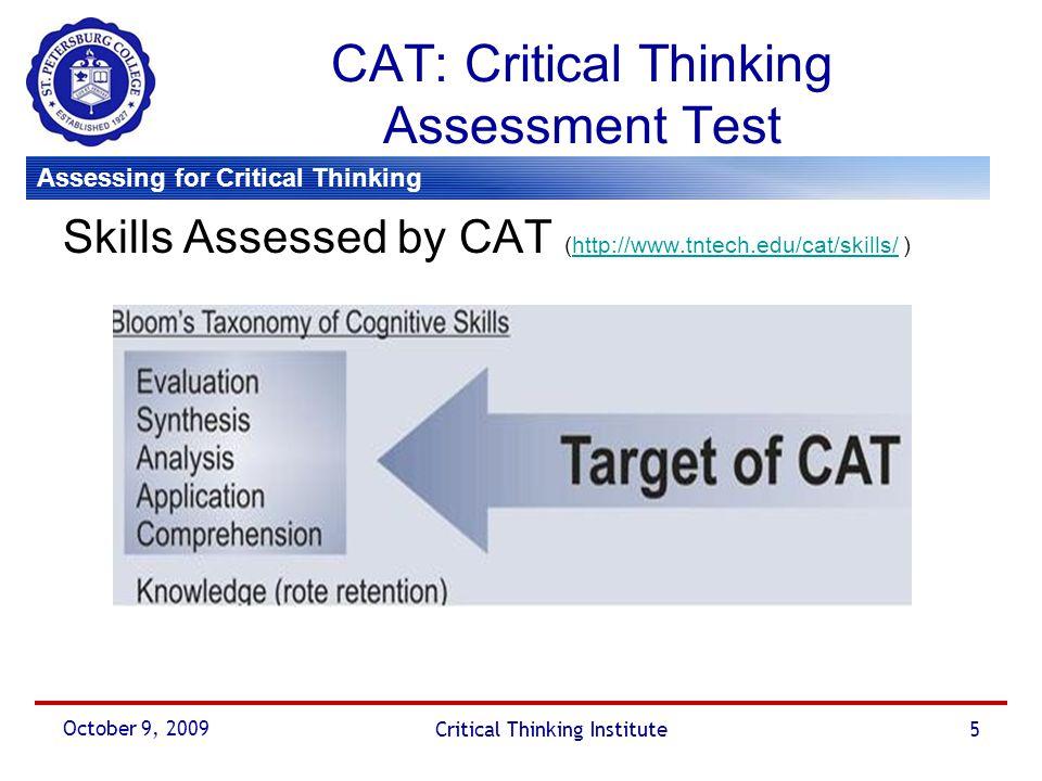 critical thinking assessment pdf