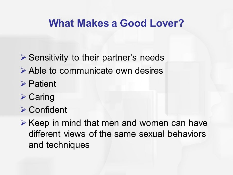 what makes a good lover
