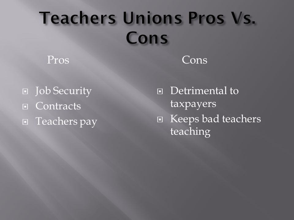"""Maria Covarrubias.  """"Teachers Unions are memberships organizations for  educators, administrators, counselors, staff, and school-related personal.""""  - ppt download"""