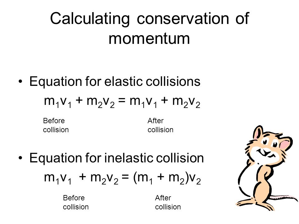 Momentum Is Conserved For All Collisions As Long As External