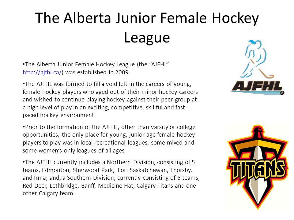 Calgary Titans Female Junior A Hockey Team Sponsorship Presentation