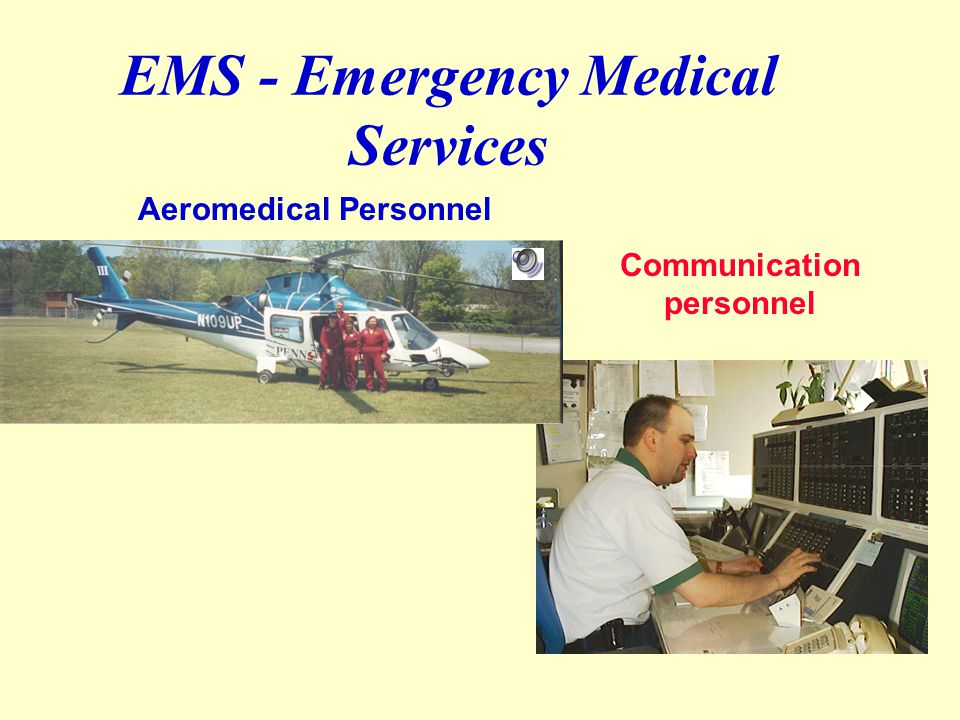 EMS - Emergency Medical Services w Ambulance personnel