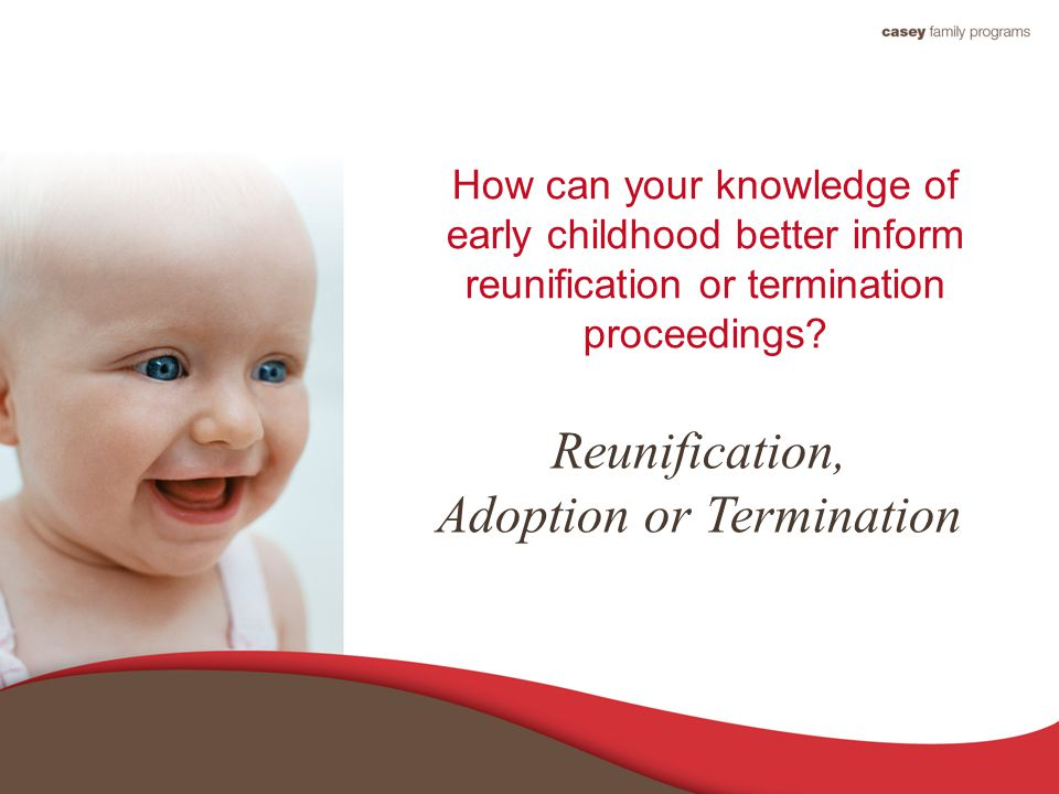 How can your knowledge of early childhood better inform reunification or termination proceedings.