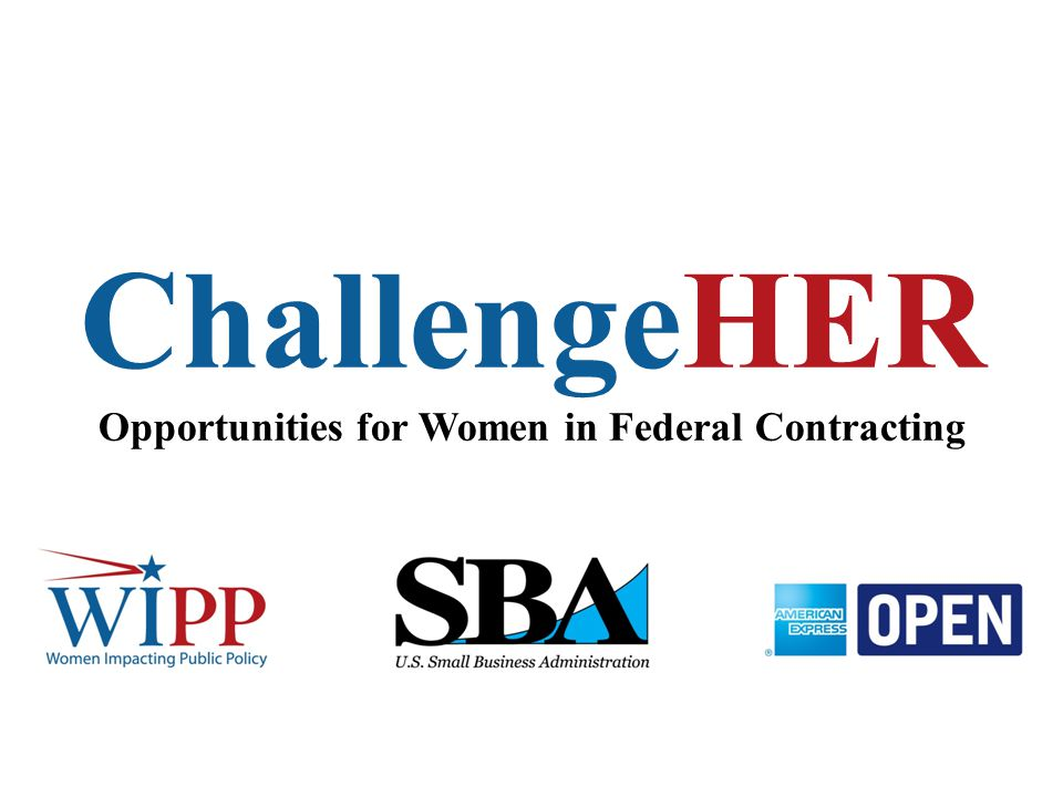 ChallengeHER Opportunities for Women in Federal Contracting