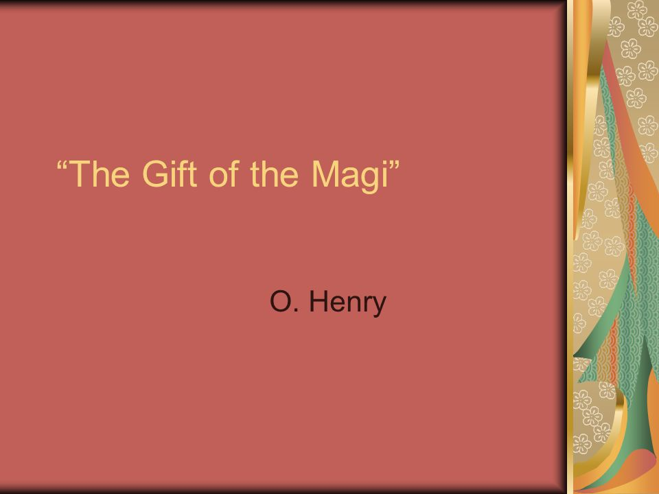 allusion in the gift of the magi