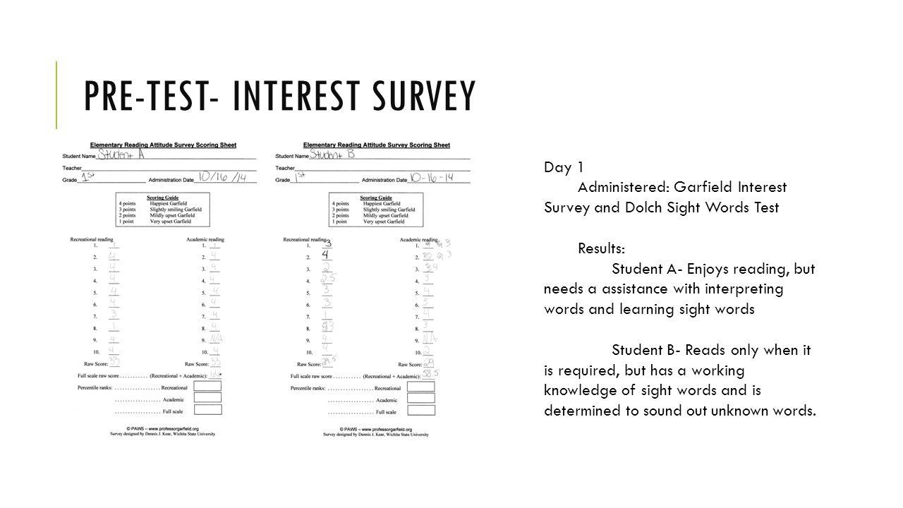 grade 2 student interest survey