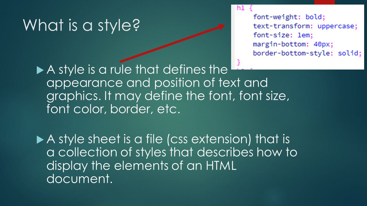 How to define text style 43