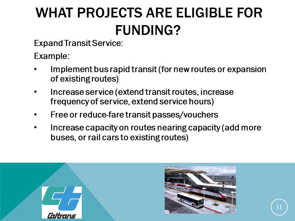 WHAT PROJECTS ARE ELIGIBLE FOR FUNDING.