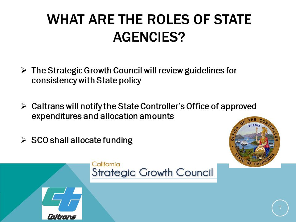 WHAT ARE THE ROLES OF STATE AGENCIES.