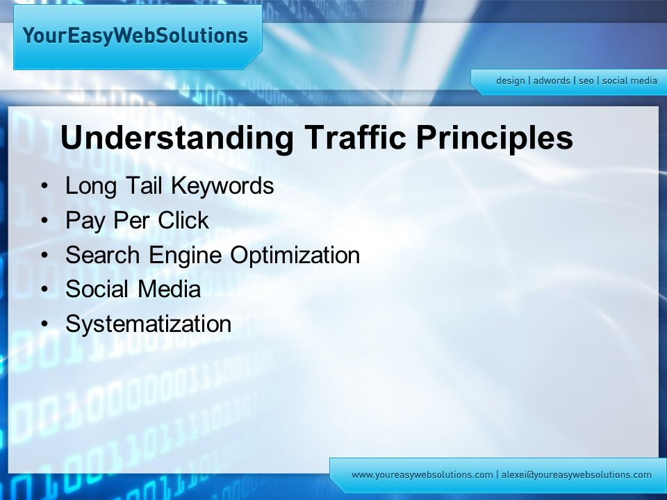 Understanding Traffic Principles Long Tail Keywords Pay Per Click Search Engine Optimization Social Media Systematization