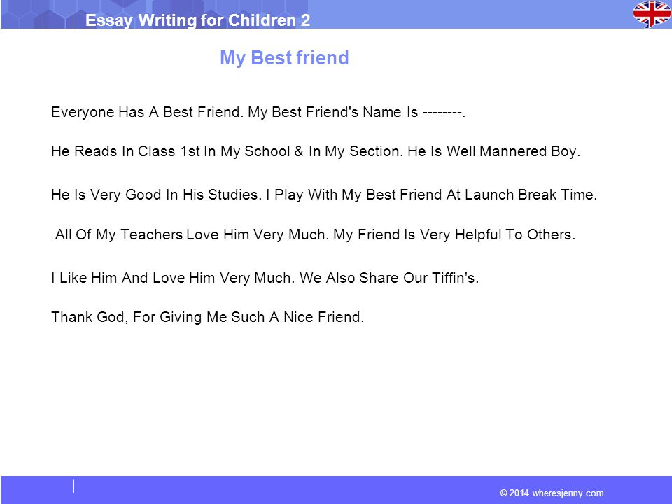 2014 wheresjenny.com Essay Writing for Children 2 Essay (My best ...