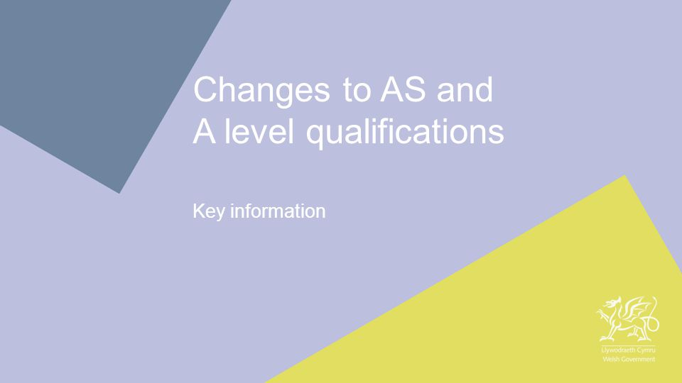 1 Changes to AS and A level qualifications Key information