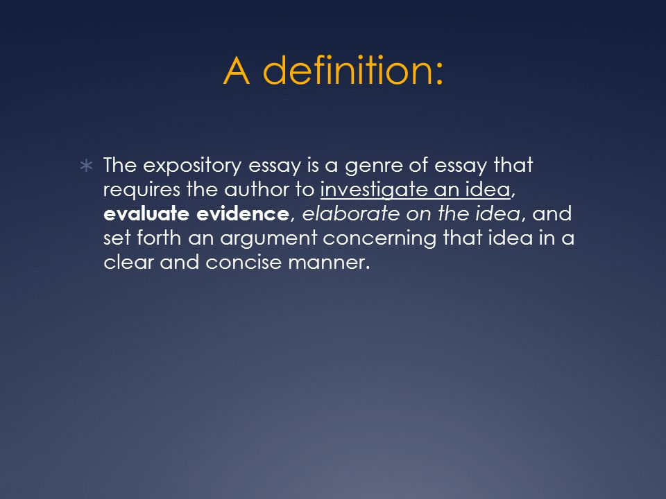 Expository Essays What they are and how to write them. - ppt download