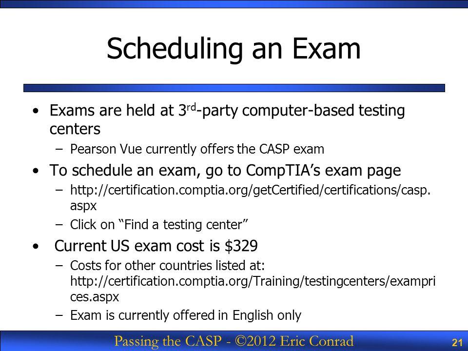 Passing The Casp 2012 Eric Conrad Passing The Comptia Casp Exam
