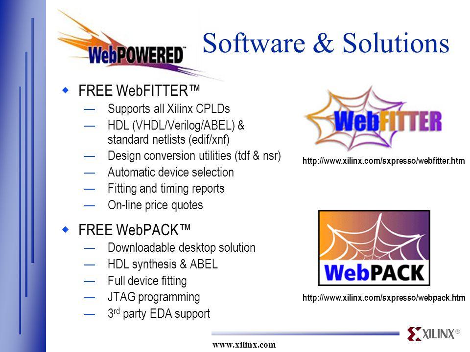 Xilinx Webpack Limitations