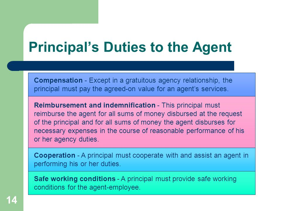 what are the duties of an agent to its principal