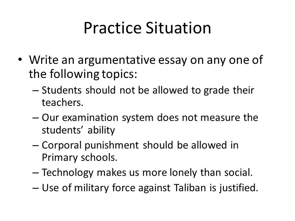 argumentative essay on corporal punishment in schools