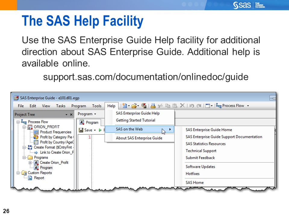 1 Chapter 1: Getting Started 1 1 Introducing SAS Enterprise