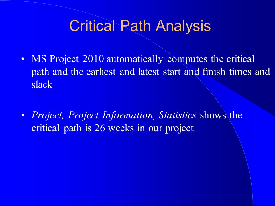 Using Ms Project 2010 Project Management Software Programs Such As