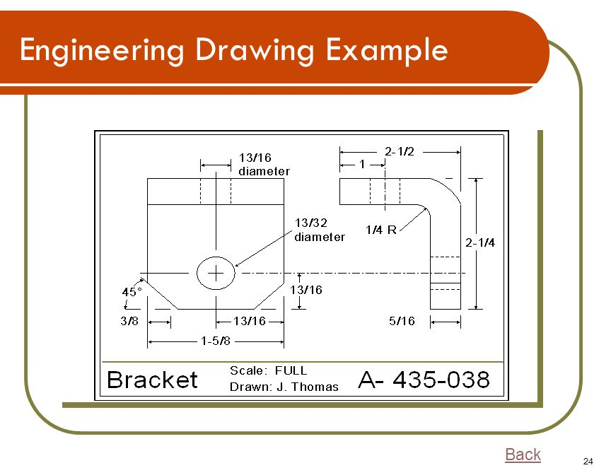 24 Engineering Drawing Example Back
