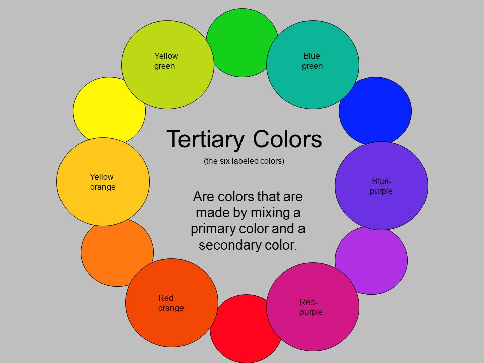 Tertiary Colors Are That Made By Mixing A Primary Color And Secondary