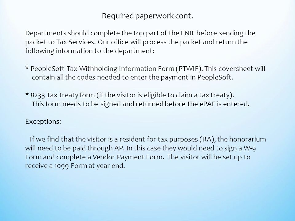Coding and Taxing of Foreign National Payments in PeopleSoft  - ppt